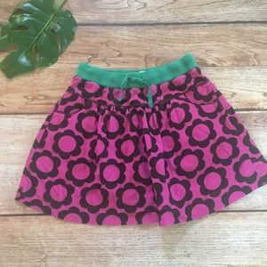 Mini Boden Corduroy Skirt 11-12 years floral pink